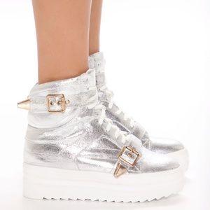 She's A Rockstar Sneakers - Silver